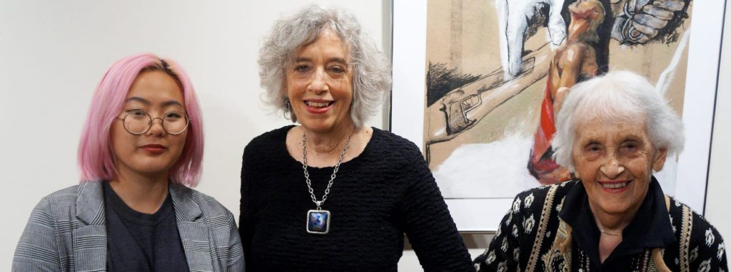 From left: Astrid Dong – 2018 Ida F. Haimovicz Visual Arts Award recipient, members of the Haimovicz family.